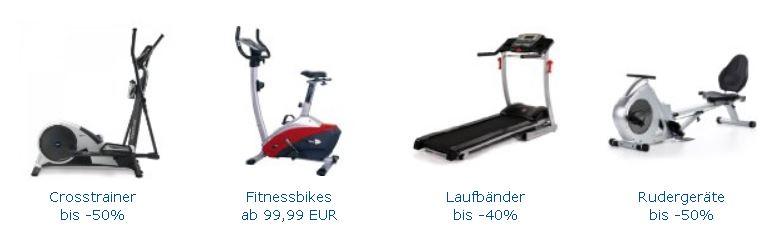 Bis zu 50% Rabatt auf Fitness Ausdauergeräte bei Amazon