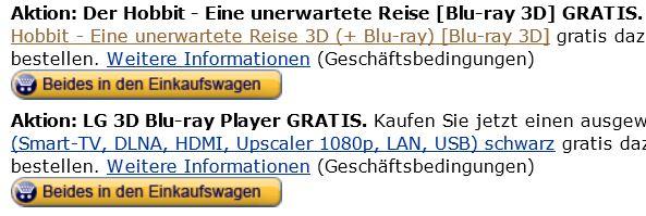 LG 47LA6418 + LG BP420 3D Blu ray Player + 3D Blu ray: Der Hobbit für nur 649,99€