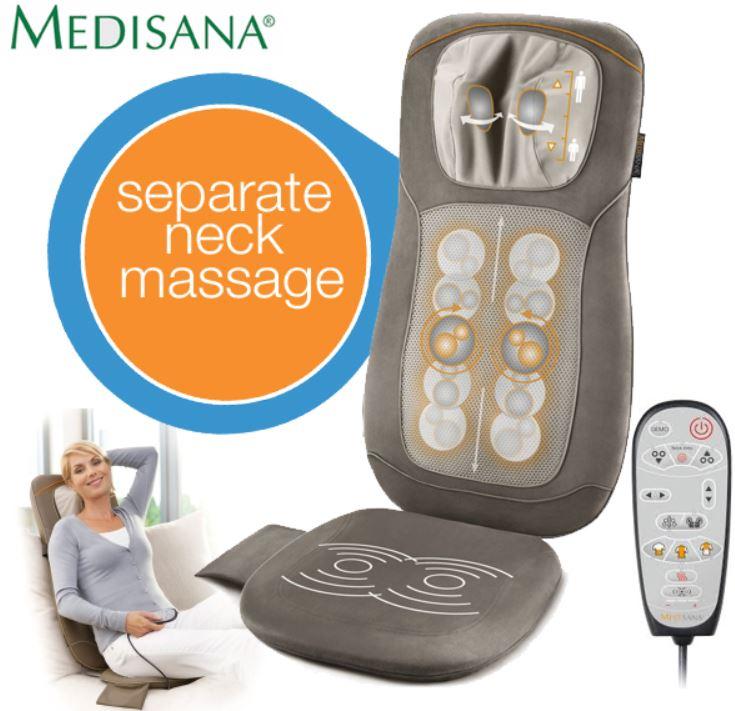 Medisana MC 820, Shiatsu Massage Sitzauflage mit verstellbarem Nackenteil  für 118,90€