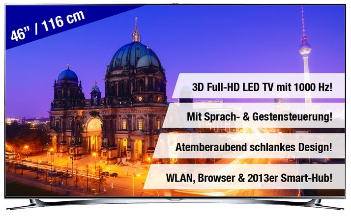Samsung UE46F8000   46Zoll 3D Smart TV für 1.289