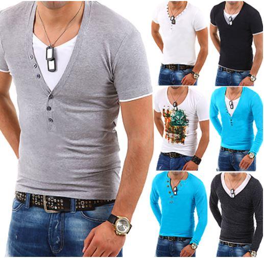 T Shirt für Herren, kurz  und langarm, verschiedene Modelle für je 14,90€