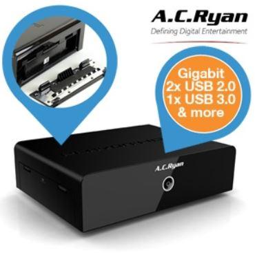 AC Ryan Playon! HD2   Media Player mit Gigabit Ethernet und EZ Drive Steckplatz für 55,90€