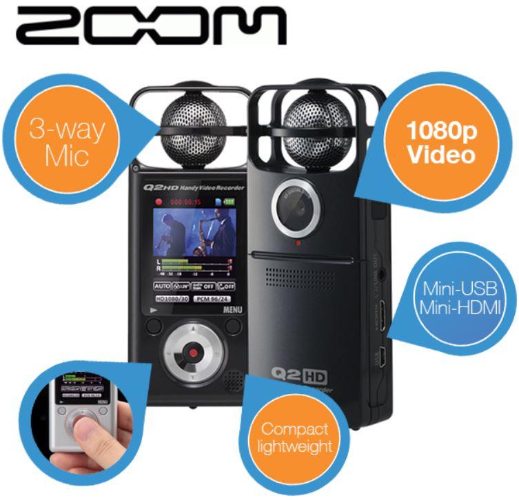 Zoom Q2HD   FullHD Recorder für 135,90€