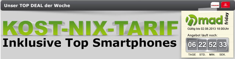 Günstige Smartphones dank Duo Kost Nix Tarif   z.B. HTC One X nur 249€   Update