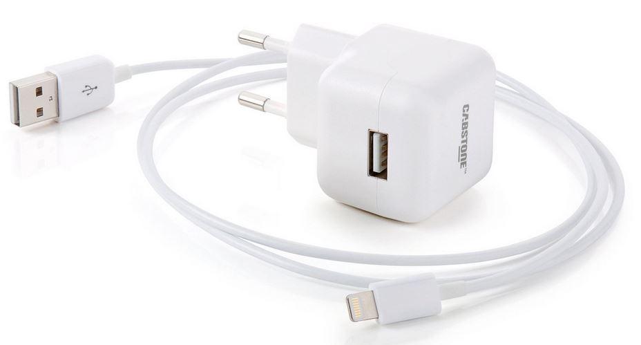 Cabstone Apple Lightning Kabel und Netzteil
