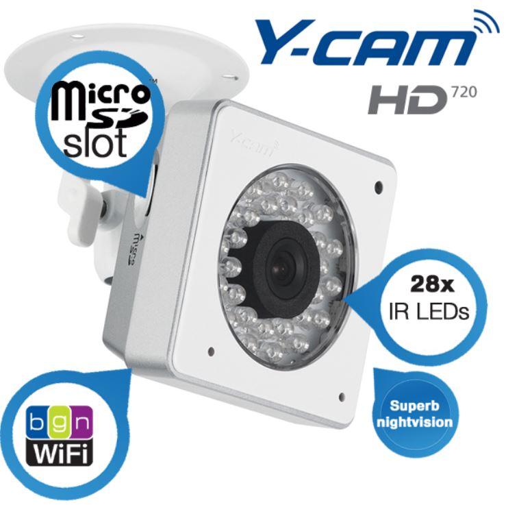 Y Cam Cube HD720   WiFi IP Kamera mit Nachtsicht für nur 155,90€ (Vergleich 257€)