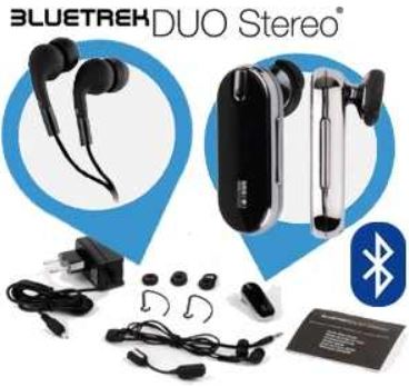 Bluetrek Duo Stereo Bluetooth Headset mit SRS 3D Surround Sound System für 18,90€