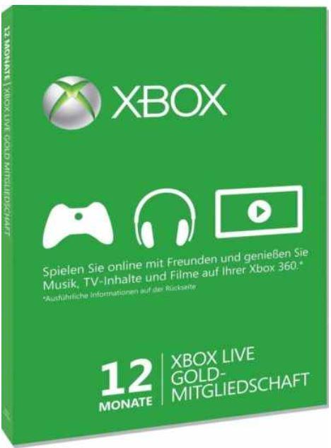 Vorbei! 12 Monate Xbox Live Gold Mitgliedschaft für 30,59€ (statt 39€