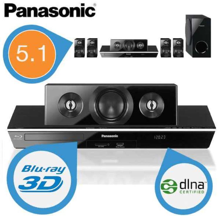 Panasonic BTT400 3D Blu Ray Player mit DLNA und 5.1 Cinema Sound für 188,90€