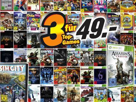 Tipp! Ab Donnerstag neue Media Markt Aktionen   3Top Games für 49€