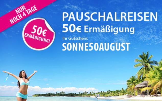 50€ Rabatt beim Online Reisebüro ebookers   Update