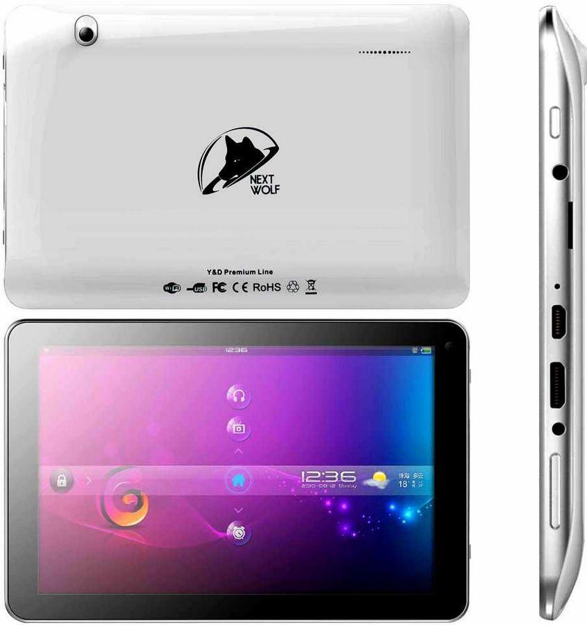 NEXTWOLF, 10 Zoll Tablet PC, DualCore 1,2 GHz 8 GB mit Zubehör für 129,90€