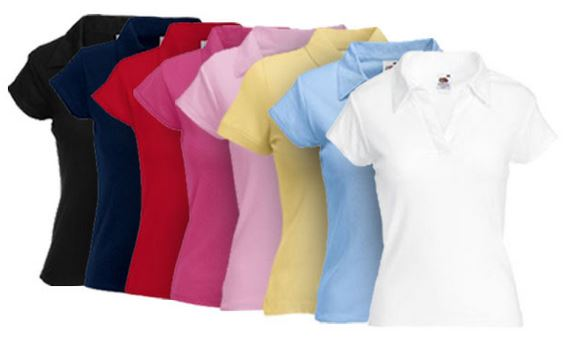 Fruit of the Loom   2er Pack Poloshirts für Damen & Herren nur 9,99€