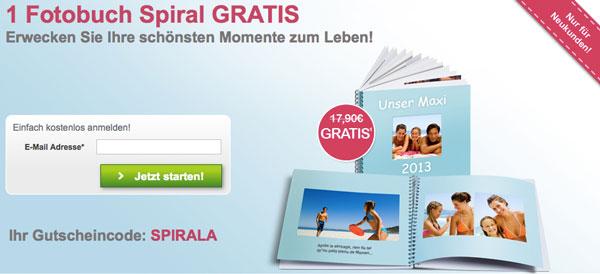 1 Fotobuch mit Spiralbindung (30 Seiten) für 5,90€   Update