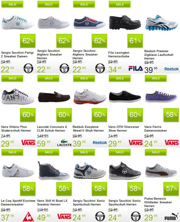 Bis 70% Rabatt auf Sneaker bei Plutosport (Lacoste, VANS, Puma, Converse...uvm)