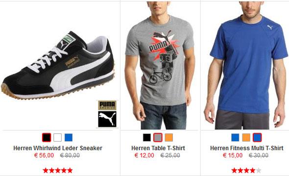 50% PUMA Shop Sale + 2o% Gutscheincode + 10€ Newslettergutschein