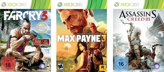 Günstige Xbox 360 Games Live Store   Far Cry 3, Max Payne 3 und Assassins Creed 3 für je 9,99€