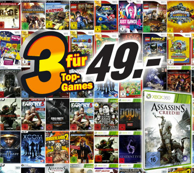 Media Markt Konter bei Amazon   3 Top Games für 49€   Update!