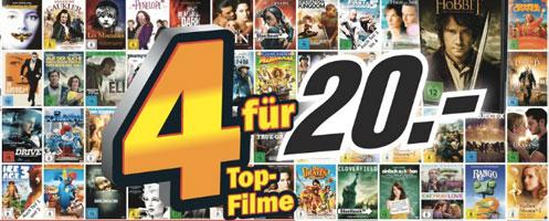 Media Markt Konter bei Amazon – 4 DVDs für 20€