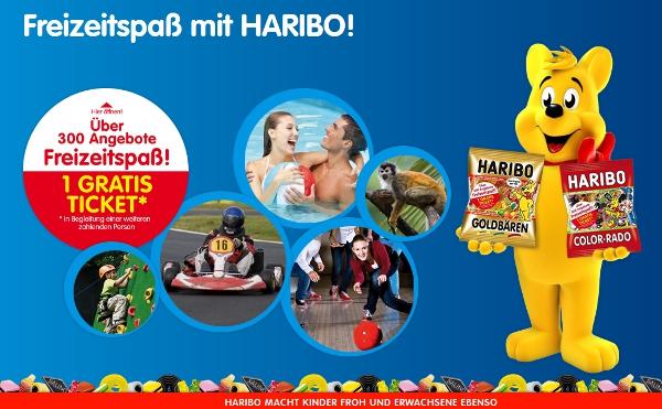 2 für 1 Tickets von Haribo für über 300 Freizeitangebote