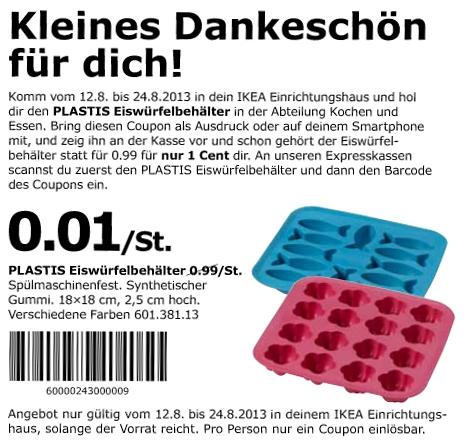 IKEA Plastik Eiswürfelbehälter & 200 Trinkhalme für je 0,01€
