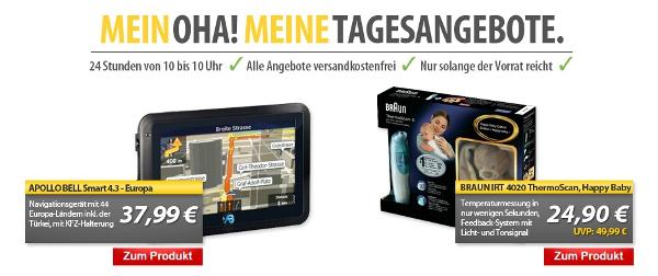 Navigationsgerät und Infrarot Thermometer in den MeinPaket OHA! Angeboten
