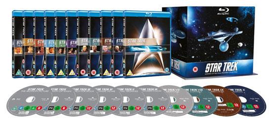 Update! Star Trek: Stardate Collection – The Movies 1 10 für 7,47€ pro Blu ray