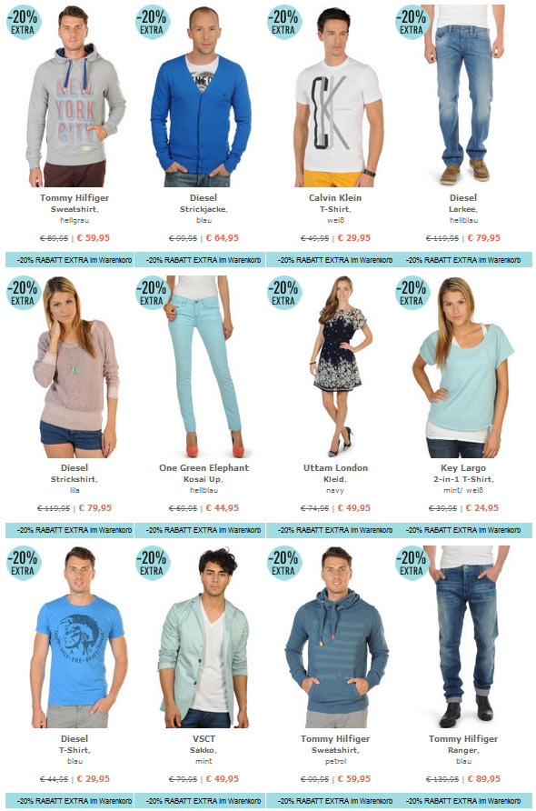25% auf alles bei dress for less + 10€ Gutschein