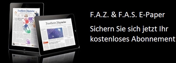 Frauen aufgepasst: 1 Jahr lang Frankfurter Allgemeine Zeitung und Sonntagszeitung kostenlos als E Paper