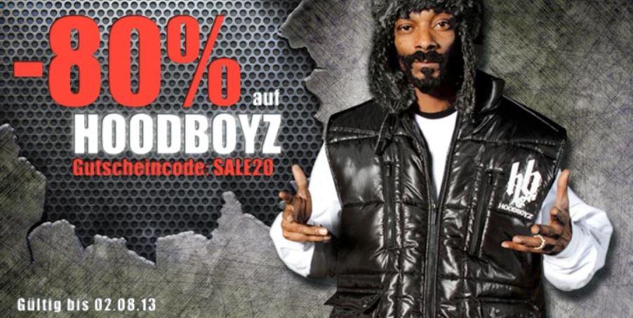 80% Rabatt auf Fashion Artikel der Marke Hoodboyz