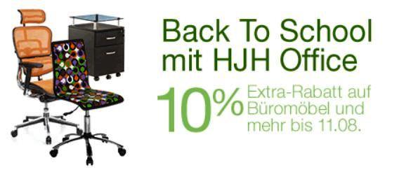 10% Extra Rabatt auf Büromöbel von HJH Office