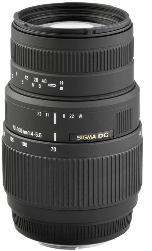 Sigma Objektiv 4,0 5,6 70 300 DG für Nikon SLR Kameras nur 89,99€