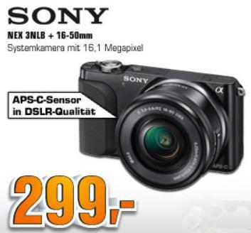Sony Alpha NEX 3N für 299€ und mehr SATURN SUPER SUNDAY Angebote! Update