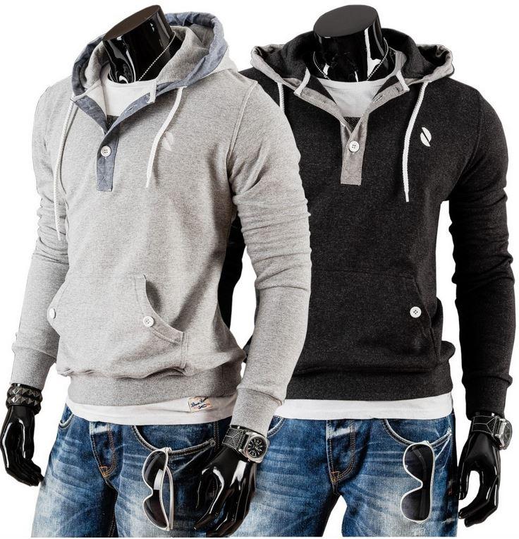 BOLF 24 Herrensweatshirt mit Kapuze (Gr. M L) für je 19,95€