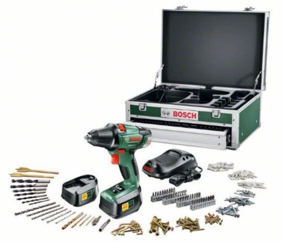 Bosch PSR 18 LI   Akku Bohrschrauber im 241 Teile Heimwerker Set für 170,15€   Update