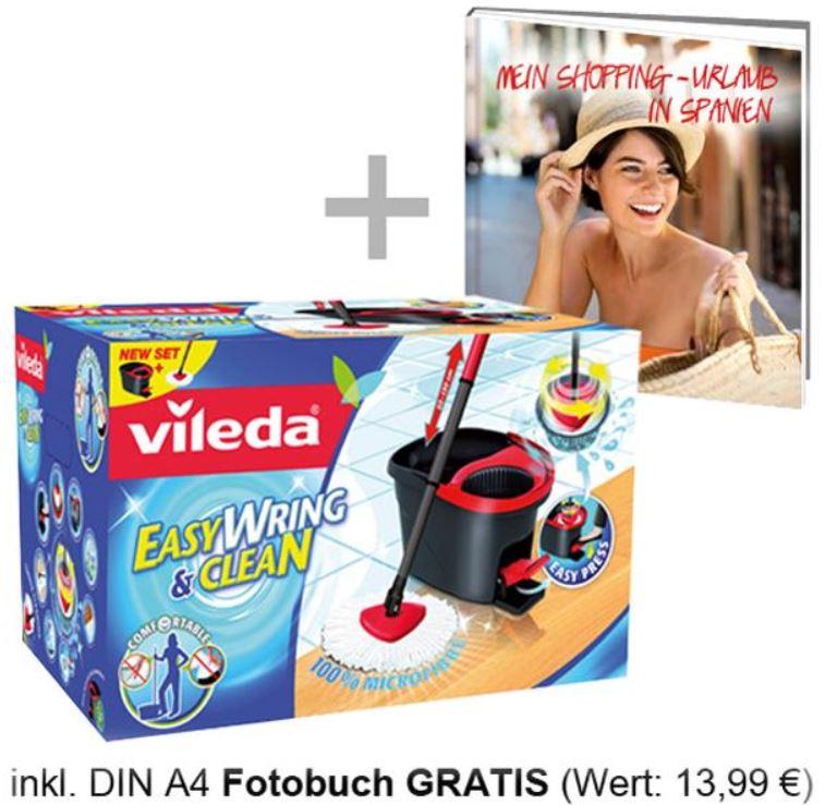 Wileda Easywring Set, Bodenwischer mit Eimer, PowerSchleuder und DIN A4 Fotobuch für 29,99€