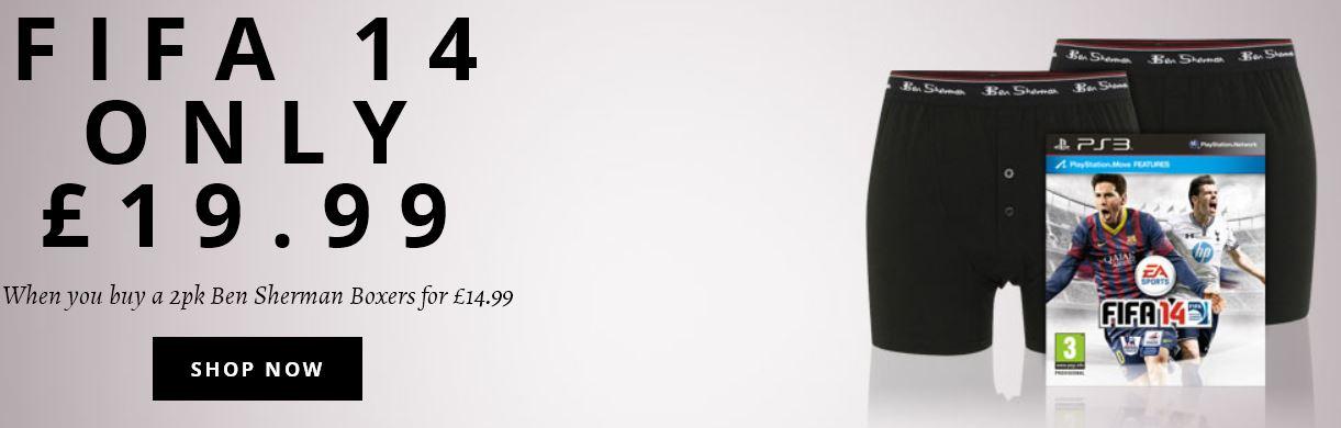 Bundle FIFA 14 für PS3 / XBox &  Doppelpack Ben Sherman Shorts für 43,44€  Top!