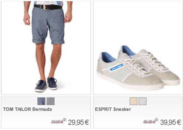Galeria Kaufhof Sunshine Sale mit 20% Rabatt auf ausgewählte Kleidung und Schuhe