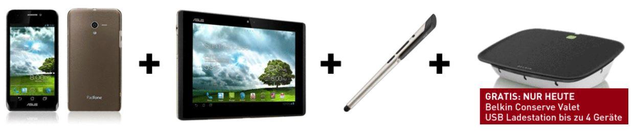 Asus PadFone SmartPhone mit Super AMOLED & 10.1 Zoll Tablet & Zubehör für nur 329€