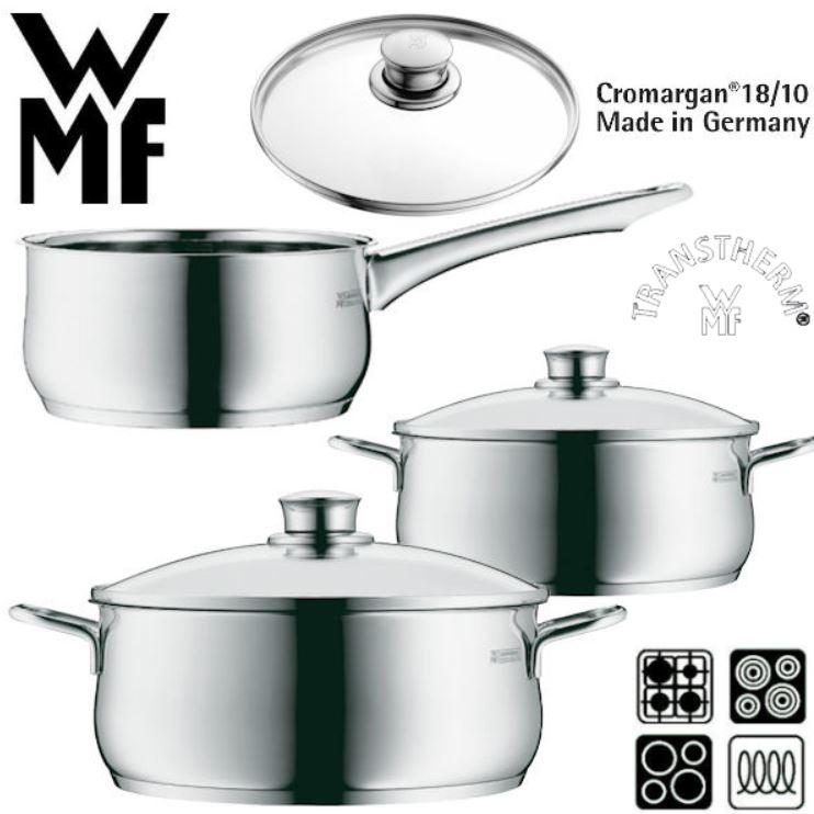 WMF Diadem Plus   3teiliges Topfset mit Cromargan Trans Therm Boden für nur 55,90€