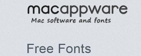 macappware   58 Fonts für Mac und PC kostenlos