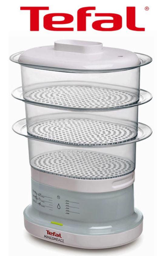 Tefal vc1301 Minicompact Dampfgarer mit 3 Gareinsätzen für 15,90€