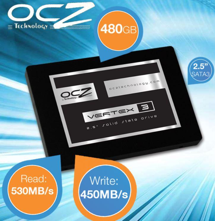OCZ Vertex 3   SSD mit 480GB SATA3 für 205,90€