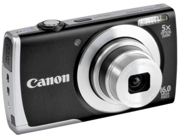 Canon PowerShot A2500   16MP Digitalkamera 5x Zoom für 69,90€