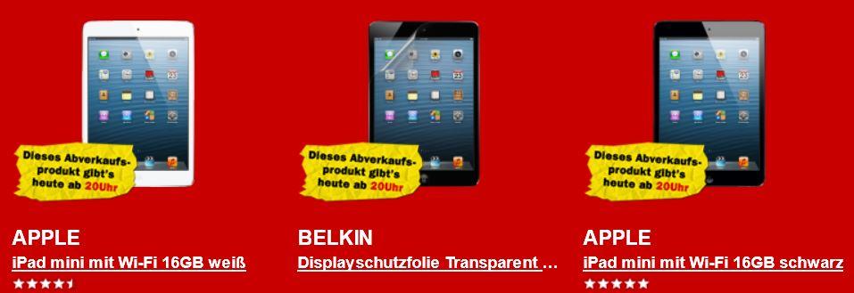Apple iPad mini für 259€ und reichlich mehr beim Media Markt Rausverkauf!