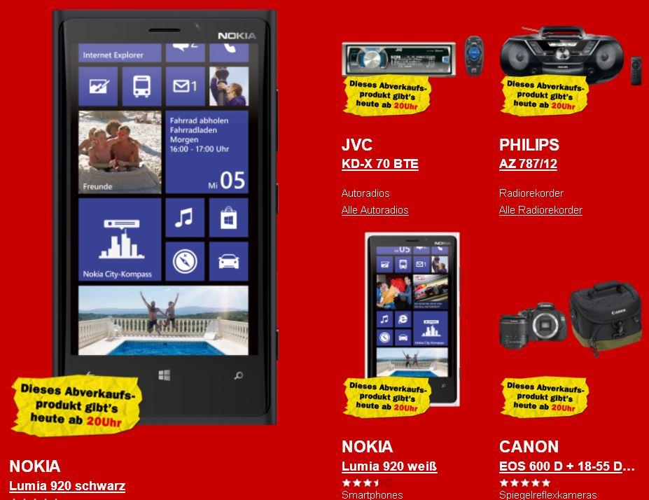 Nokia Lumia 920 für 244€ und mehr beim Media Markt Rausverkauf!