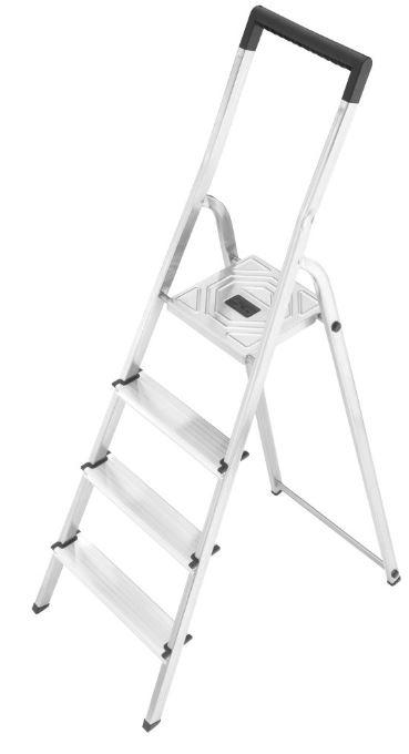 Hailo L40    4 Stufen Aluminium Sicherheits Klapptrittleiter für 34,99€