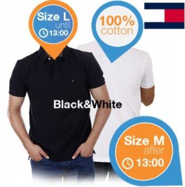 Tommy Hilfiger Duopack Herren Polo Shirts in Weiß und Schwarz für 65,90€