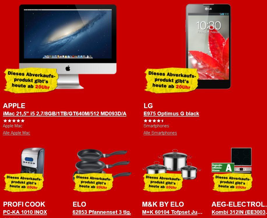 Apple iMac 21,5″ i5 für 999€ und mehr beim Media Markt Rausverkauf!