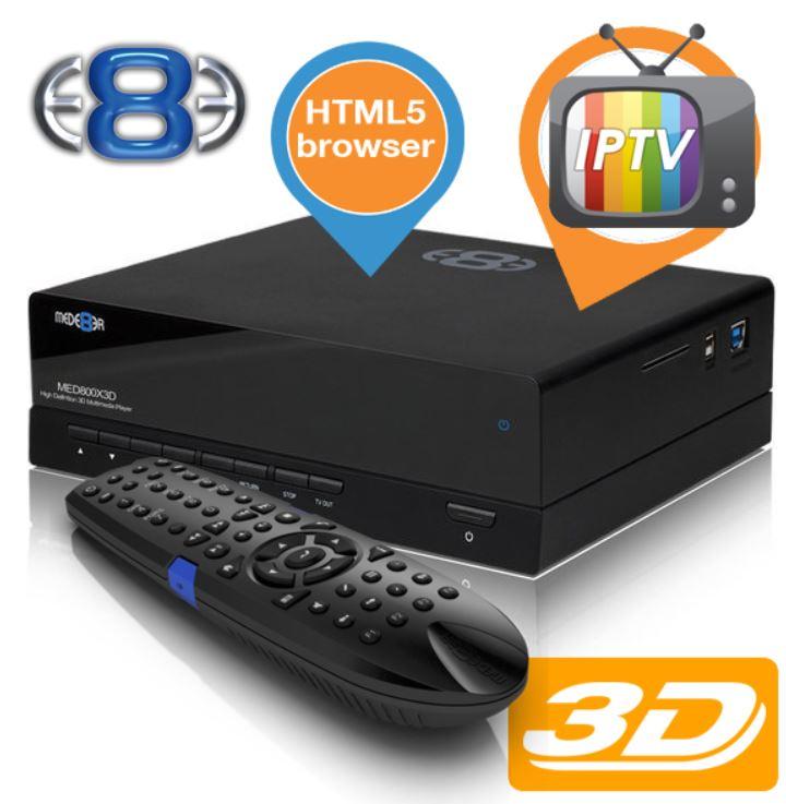 Mede8er MED800X3D   3D Media Player für 135,90€